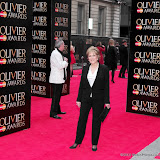 WWW.ENTSIMAGES.COM -  Lynda Bellingham   at      The Olivier Awards at Royal Opera House, Covent Garden, London, April 28th 2013                                               Photo Mobis Photos/OIC 0203 174 1069