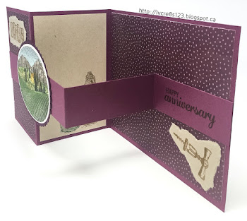 Linda Vich Creates: Z Fold Tuscan Vineyard Card. Blackberry Bliss and Rich Razzleberry team up with the Tuscan Vineyard stamp set to create this z fold card.