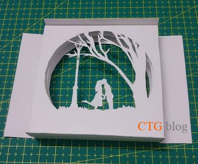 Hướng dẫn xếp mô hình giấy Hộp Tình yêu light box