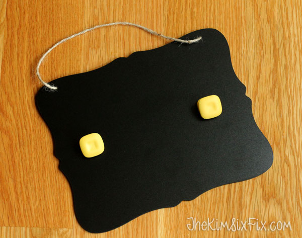 Chalkboard with clips