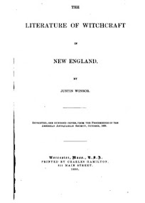 Cover of Justin Winsor's Book The Literature of Witchcraft in New England