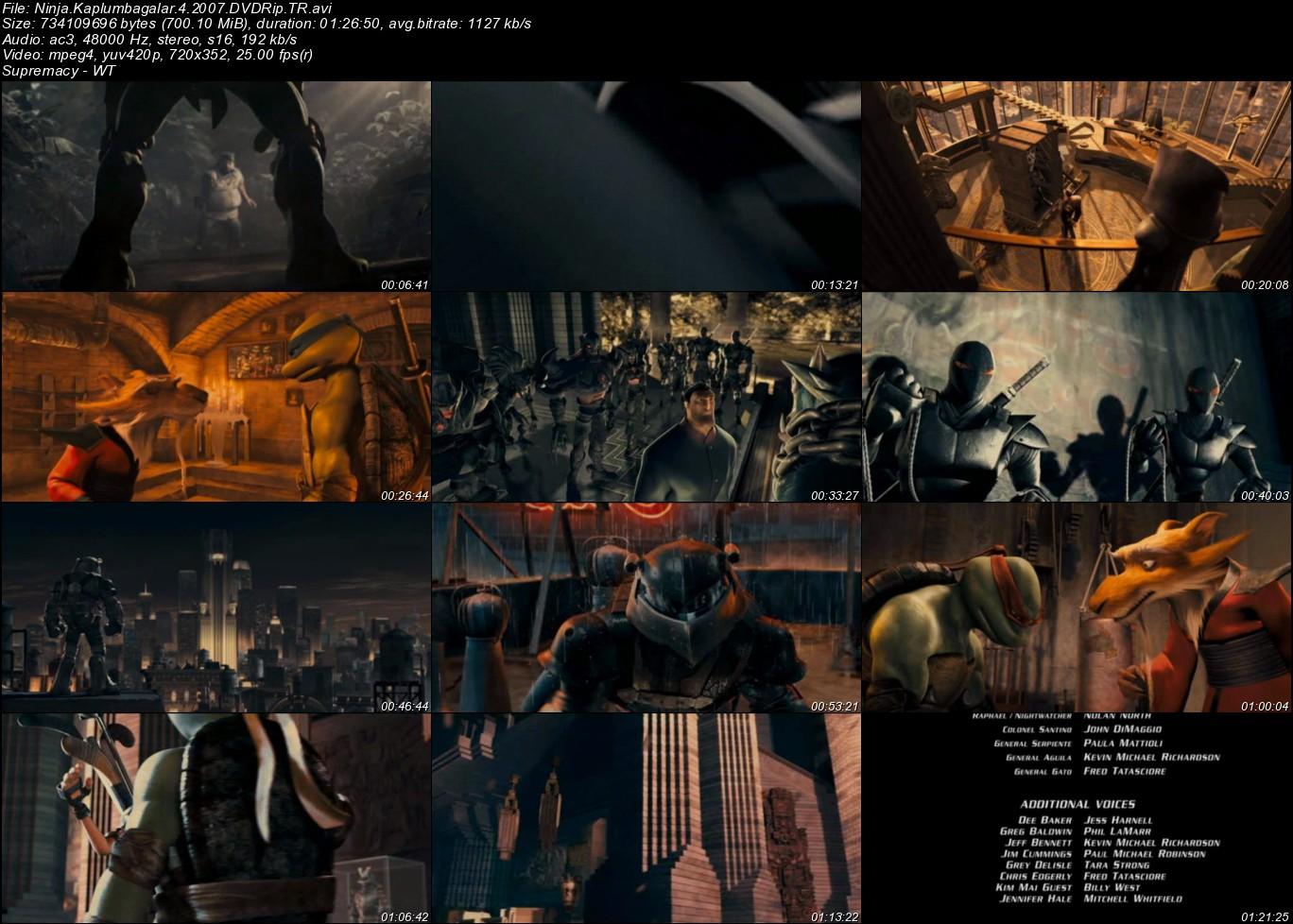 Ninja Kaplumbağalar - 2007 Türkçe Dublaj DVDRip Tek Link