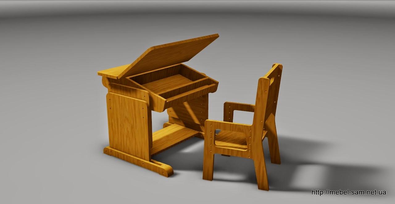 Комплект парта плюс стул - планирую изготовить из фанеры