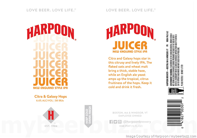 Harpoon Juicer NEIPA Coming To 16oz Cans