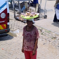 Vendor at bus rank