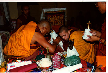Osel offering to Lama Zopa Rinpoche