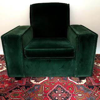 Art Deco Armchair, High Back