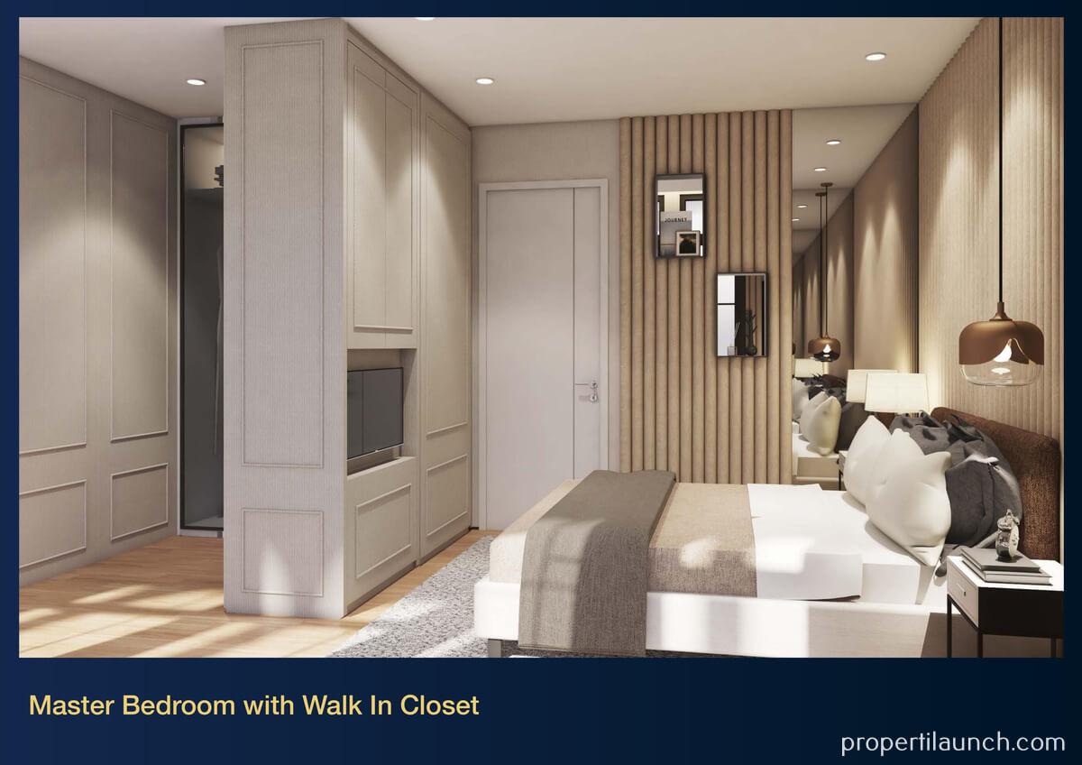 Show Unit Rumah Aether BSD - Master Bedroom