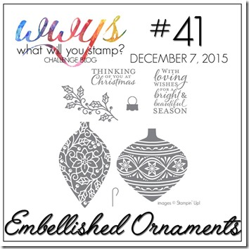 wwys embellished ornaments