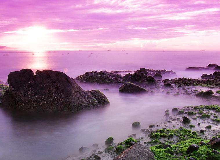 pemandangan pantai jayanti cinajur selatan