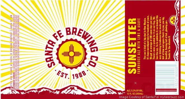 Santa Fe Brewing - Sunsetter Farmhouse Cans