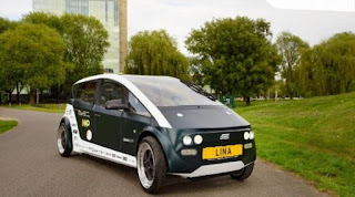 LINA car made from biodegradable materials