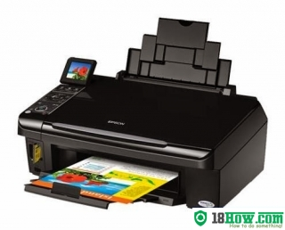 How to reset flashing lights for Epson SX405 printer