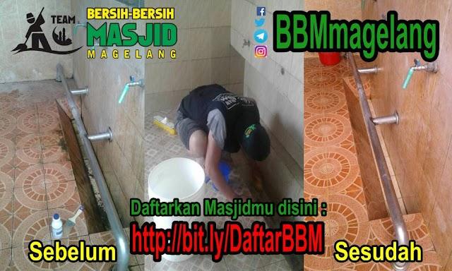 Layanan kebersihan Masjid gratis di Magelang