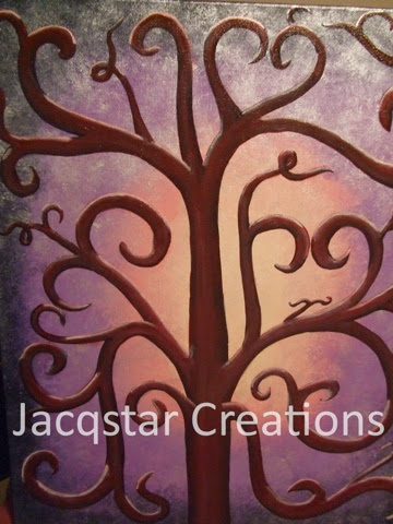 painting, hand made, art with heart, Jacqstar Creations, craft, curly branches