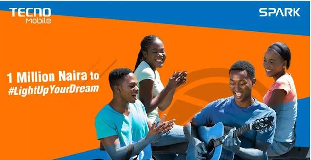 Win 1 Million Naira From Tecno #LightUpYourDream