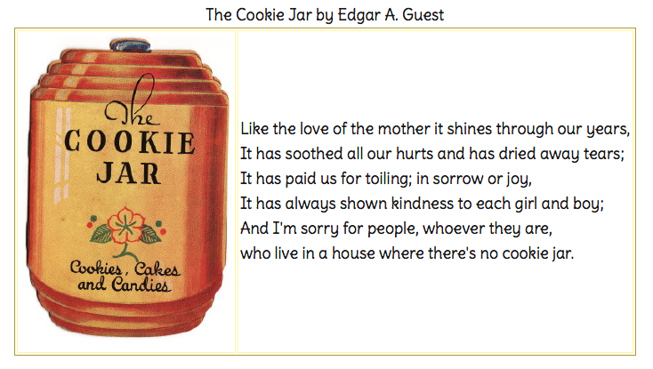 Cookie Jar Poem by Edgar Guest