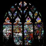 Collégiale Saint-Martin : vitrail La bataille de Bouvines, 2 juillet 1214 (vitrail d'Eugène Grasset, 1908)