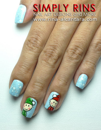 Santa's Elves Nail Art Design