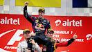 Rejoicing of Nico Rosberg, Sebastian Vettel & Romain Grosjean