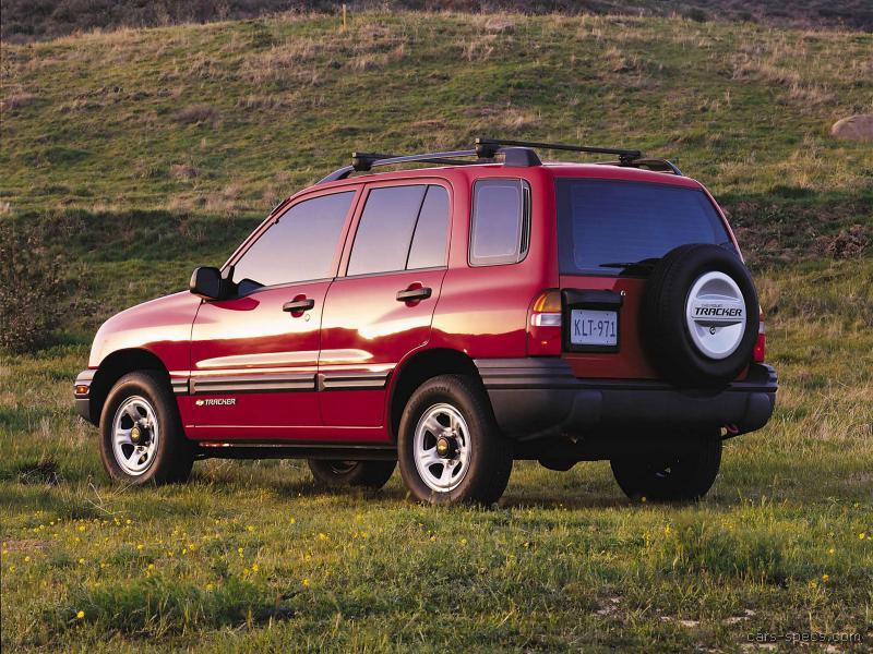 2003 Chevrolet Tracker Suv Specifications  Pictures  Prices