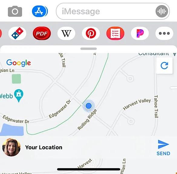 مشاركة الموقع Ios خرائط جوجل