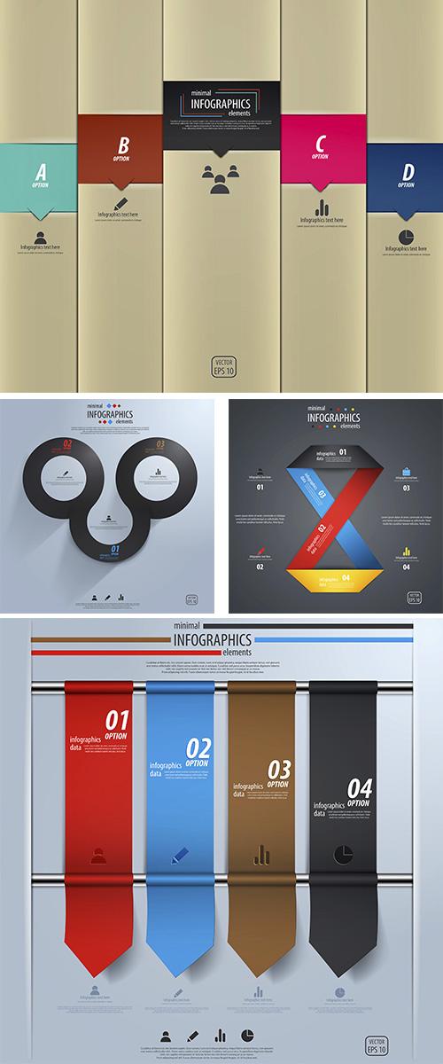 Stock: Minimal infographics design. Vector