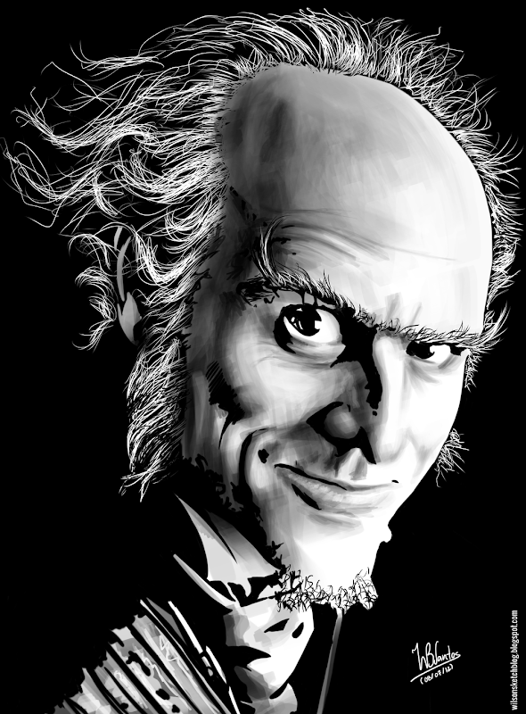 Ink drawing of Count Olaf, using Krita 2.4.