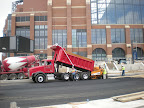 Lucas Oil Stadium - City Wide Paving Begins Installation of Asphalt for Roadway