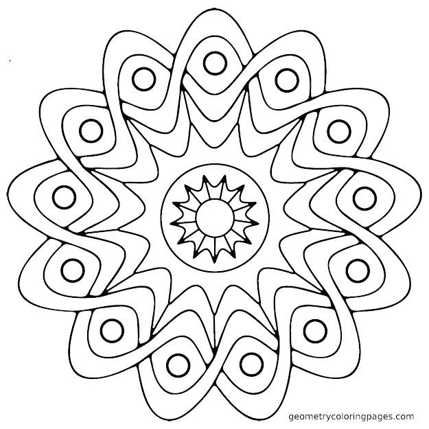 Mandala Coloring Pages Easy Mandala Coloring Pages Printable Katibura  Printable
