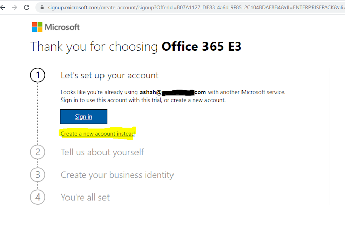 D365/CRM:-How to Create Dynamics365 CRM & Office365 Trial without your Work/Office Tenant