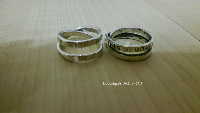 The wedding rings we made this year.