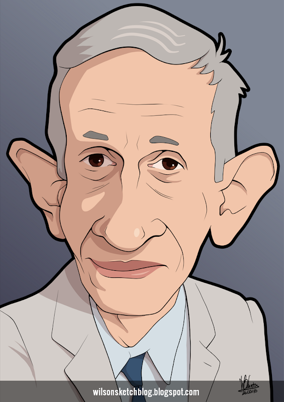Cartoon caricature of John Nash.