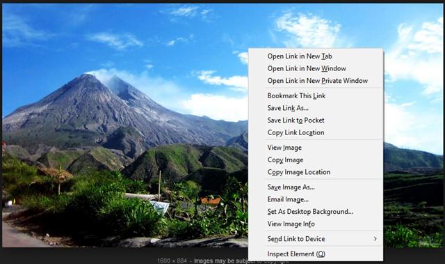 klik kanan hasil pencarian gambar google image