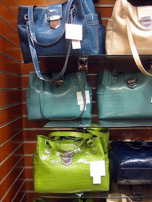 Display of Liz Claiborne Handbags at JCPenney at the Lehigh Valley Mall in Whitehall, PA - Photo by Michelle Judd of Taste As You Go