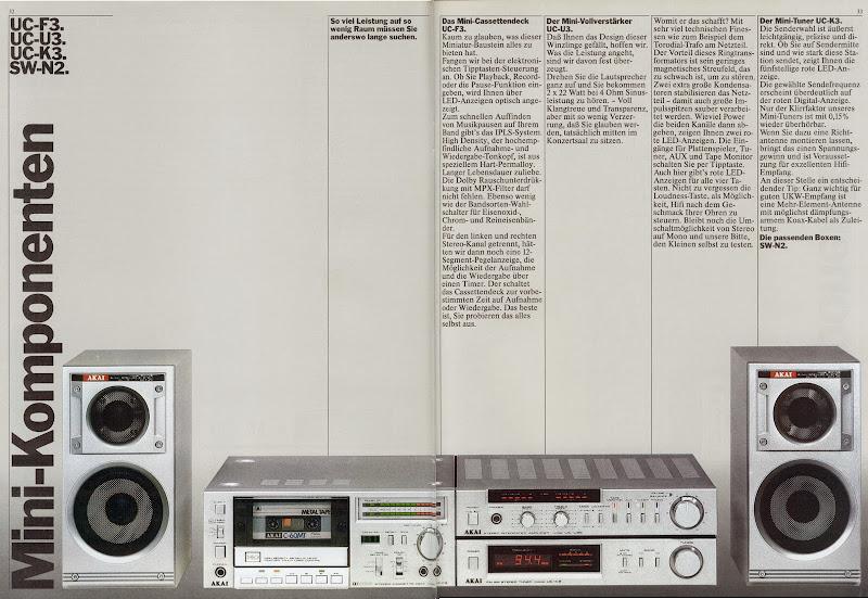 Akai UC-Mini-Component System SCORE!!! - Tapeheads Tape