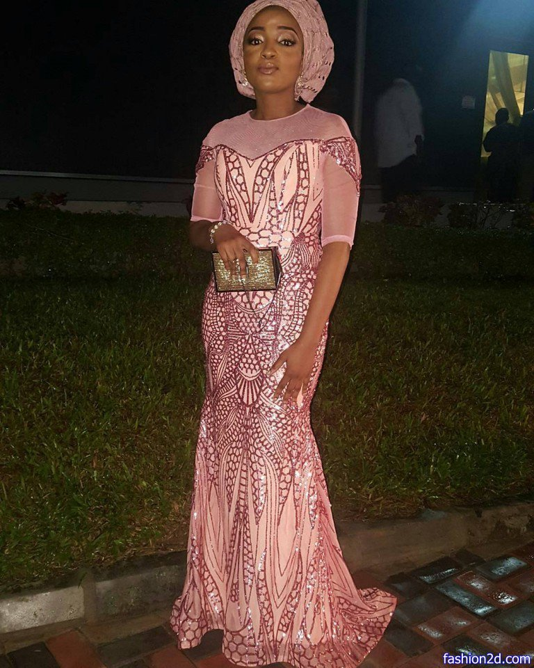 Cinderella Shweshwe Dress: Pink Lace Aso Ebi Styles Mermaid Dress