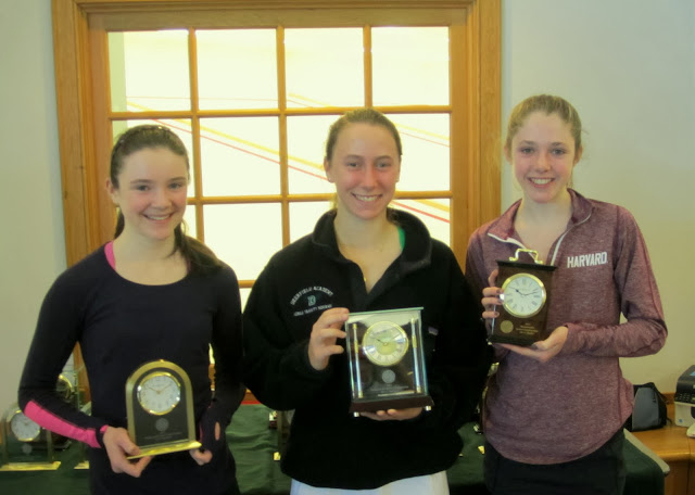 Mass Junior Championships, Jan 3-5, 2014  GU 17: 3rd Place: Grace Doyle (Dedham, MA); Champion - Anne Blasberg (Boston, MA); Finalist - Caroline Naeve (Harrison, NY)