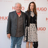 WWW.ENTSIMAGES.COM -   David Bailey and Catherine Bailey   attending  HUGO: RED NEVER FOLLOWS - private view / party of exhibition to celebrate 20th anniversary of Hugo Boss, featuring the brand's RED NEVER FOLLOWS project which saw it collaborate with 20 'urban creatives' from around the world July 30th 2013                                                     Photo Mobis Photos/OIC 0203 174 1069