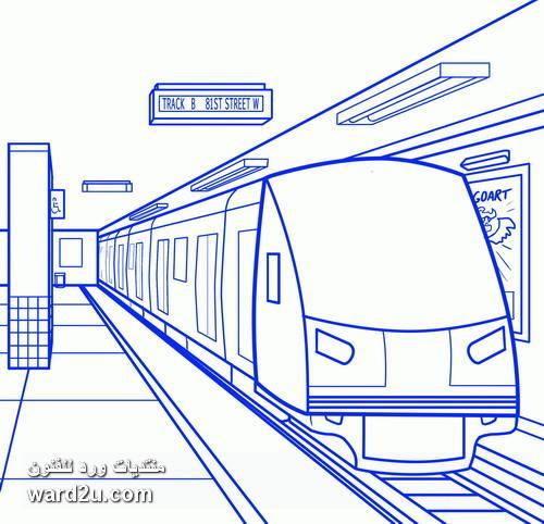 رسم وسائل المواصلات بخطوات تعليميه مصوره Transportation Drawing