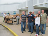 Stateville Team unloading Bibles outside the  Northern Reception Center