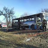 Požár autobusu dne 10.2. 2011