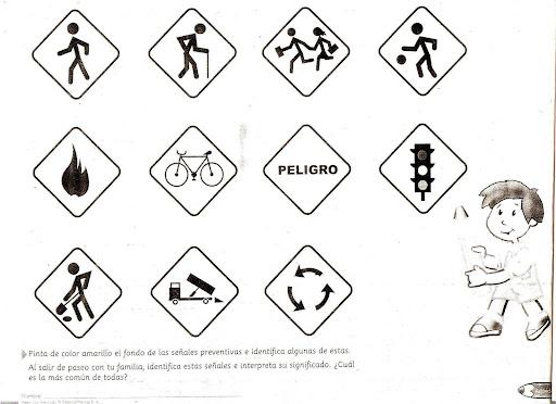 Señales de prevencion de accidentes para colorear – Limpieza de ...