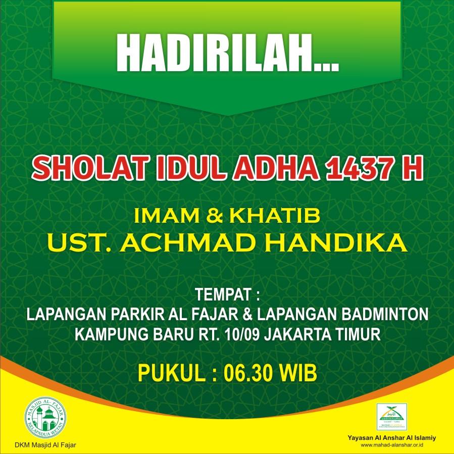 Sholat Dan Khutbah Idul Adha Ciracas Jakarta Timur Ust Ahmad Handikalc Mahad Al Anshar