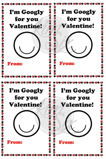 photograph about Printable Googly Eyes titled Uncomplicated Googly Eye Valentines - The Kim 6 Mend