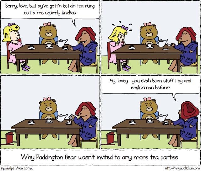 Apokalips Webcomic - Paddington Bear Tea Party