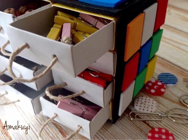 Empaquetado-caja-de-cerillas-cubo-rubik-manualidades-niños