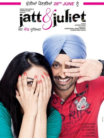 Poster Of Jatt & Juliet In Hindi Dubbed 300MB Compressed Small Size Pc Movie Free Download Only At worldfree4u.com