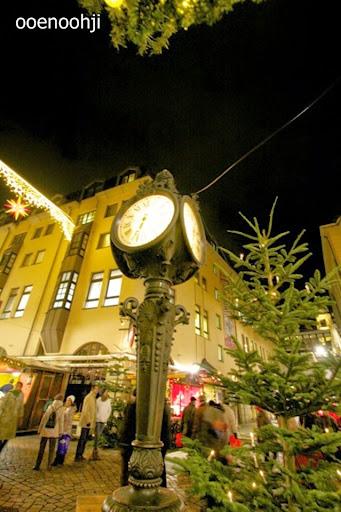 ドレスデンの街にあった時計