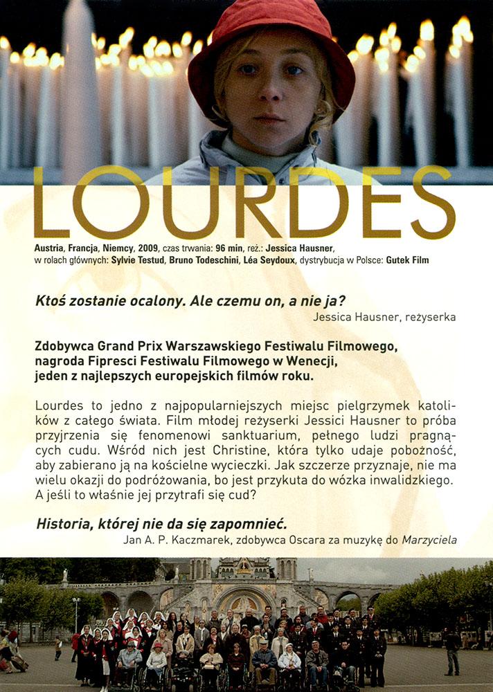 Ulotka filmu 'Lourdes (tył)'